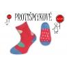 Protišmykové dievčenské ponožky – tm. ružové