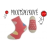Protišmykové dievčenské ponožky