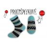 Pásikavé chlapčenské ponožky – tyrkysové