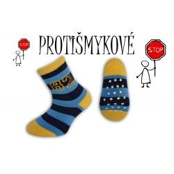 Pásikavé chlapčenské ponožky – modré