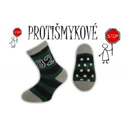 Pásikavé chlapčenské ponožky – zelené