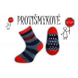 Pásikavé chlapčenské ponožky –trm. modré