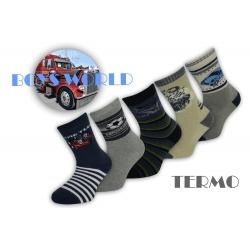 Teplé chlapčenské ponožky - 5 párov