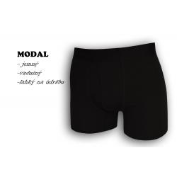 Luxusné čierne boxerky s modalom