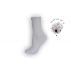 Biele dámske 90%-né bavlnené ponožky
