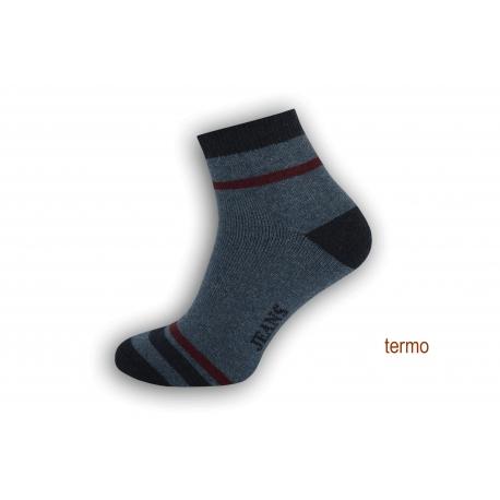 Teplé pánske športové ponožky - modré