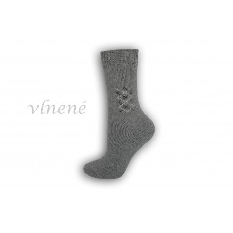 Vlnené dámske ponožky - sivé