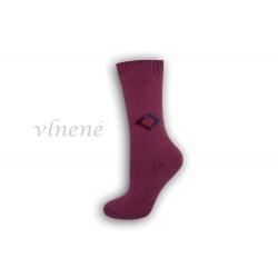 Vlnené dámske ponožky - fuxiové
