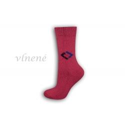 Vlnené dámske ponožky - ružové