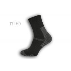 Pánske termo ponožky - tm.sivé
