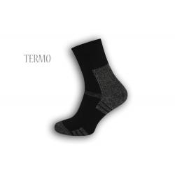 Pánske teplé ponožky - čierne