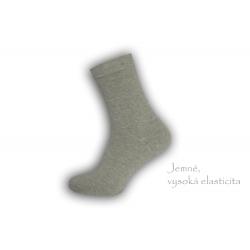 Dobre široké pánske teplé ponožky - sivé