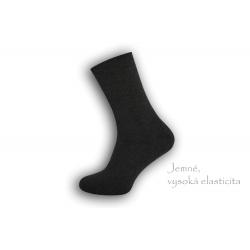 Dobre široké pánske teplé ponožky – tmavé