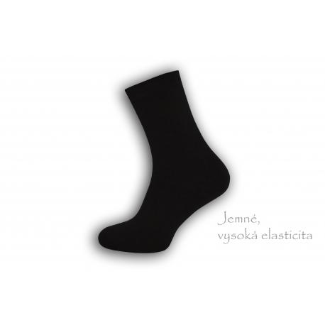 Dobre široké pánske teplé ponožky – čierne