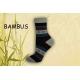 Vzorované pásikavé bambusové ponožky