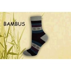 IBA 35-38! Vzorované pásikavé bambusové ponožky
