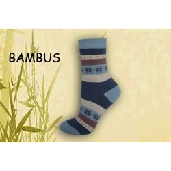 IBA 38-41! Modré pásikavé bambusové ponožky