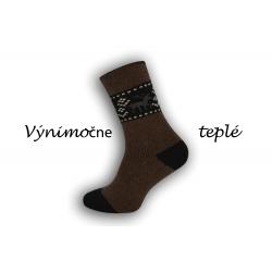Čokoládové výnimočne teplé ponožky