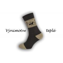 Béžové teplé zdravotné ponožky