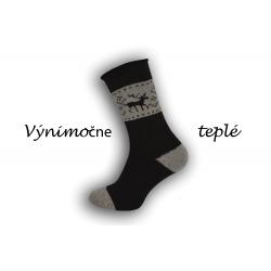 IBA 44-47! Čierne výnimočne teplé ponožky