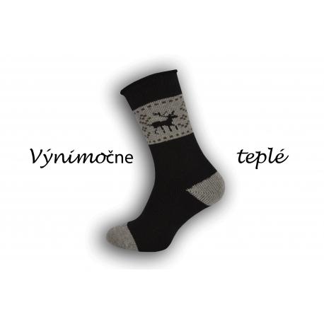 Čierne výnimočne teplé ponožky