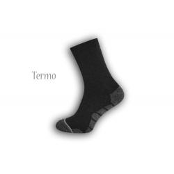 Ponožky so športovým vzorom - tm.sivé