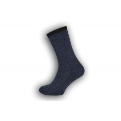Zosilnené vlnené ponožky - modré