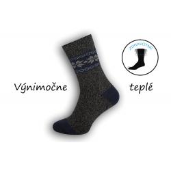 IBA 40-43! Vynikajúce teplé zdravotné ponožky - sivo-modré