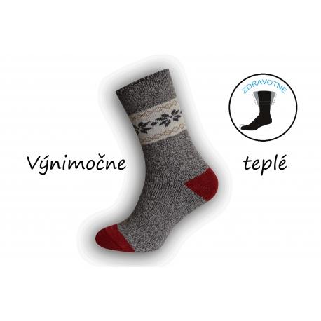 Prírodné výnimočne teplé ponožky