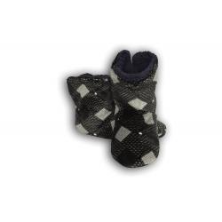 Vzorované pánske papuče - čierno-sivé