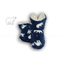 IBA 28-31! Modré detské papuče s medveďmi