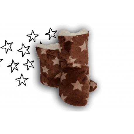 Hnedé detské papuče pre hviezdu