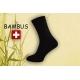 Bambusové ponožky na opuchnuté nohy – čierne