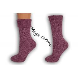 Najteplejšie dámske ponožky do -25 °C - malinové