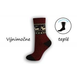 Bordové výnimočne teplé ponožky