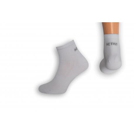 Biele pánske špičkové športové ponožky