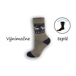 Béžové výnimočne teplé dámske ponožky