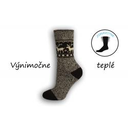Sivé výnimočne teplé dámske ponožky