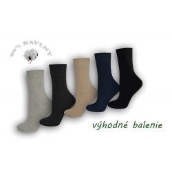 90%-né bavlnené dámske ponožky - 5 párov