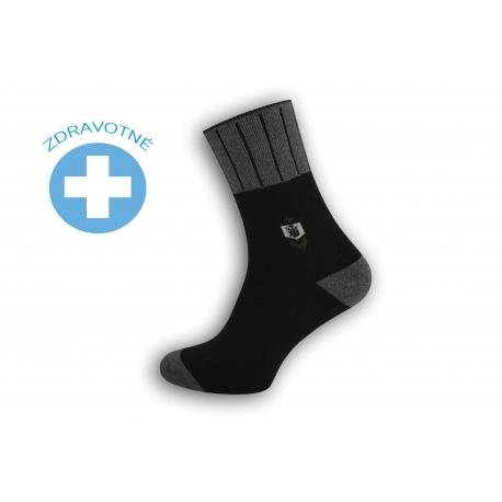Teplé lacné zdravotné ponožky - čierne