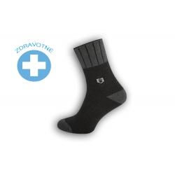 Teplé lacné zdravotné ponožky - tm.sivé