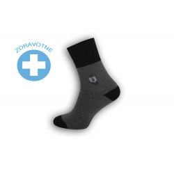 Teplé lacné zdravotné ponožky - bl.sivé