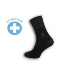 Teplé lacné zdravotné ponožky - modré