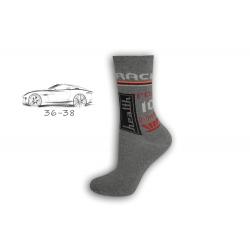 36-38! Chlapčenské sivé ponožky RACE