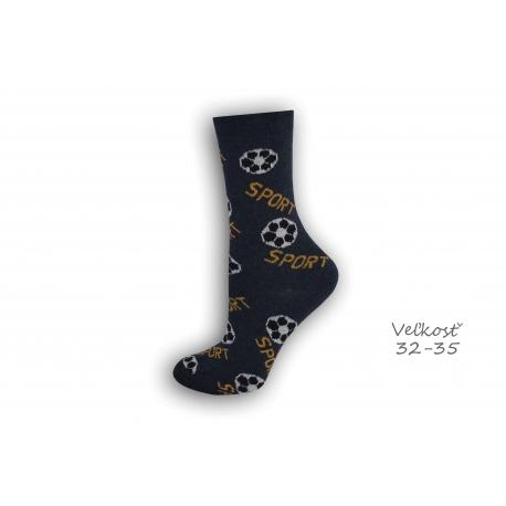 32-35! modré ponožky s futbalom