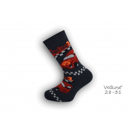28-31! Chlapčenské ponožky s autom - modré