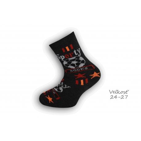 24-27! Detské ponožky pre futbalistu - čierne