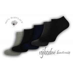 90%-né bavlnené členkové ponožky - 5 párov