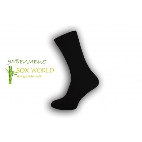 Luxusné 95%-né bambusové ponožky - čierne
