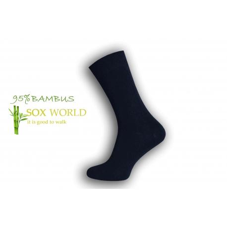 IBA 43-46! Luxusné 95%-né bambusové ponožky - modré